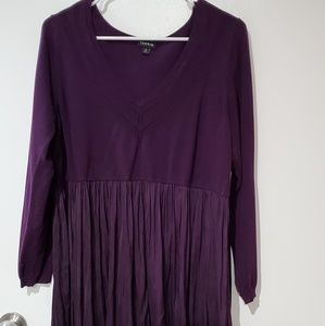 Torrid babydoll sweater in a gorgeous plum!